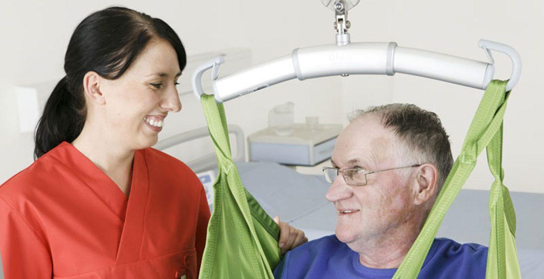 Solleva-pazienti elettrici a binario per la movimentazione in sicurezza