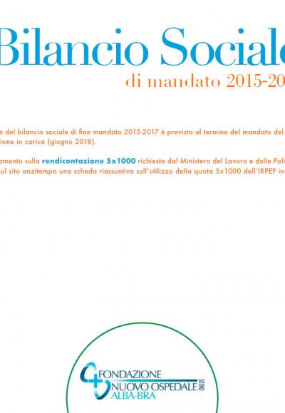 Estratto Bilancio sociale 2015-2017 (per rendicontazione 5×1000)