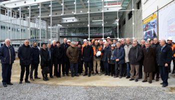 I vertici della Regione Piemonte in visita al cantiere del Nuovo Ospedale e consegna del 4° piano ultimato