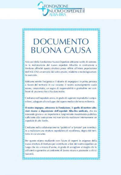 Documento di Buona Causa