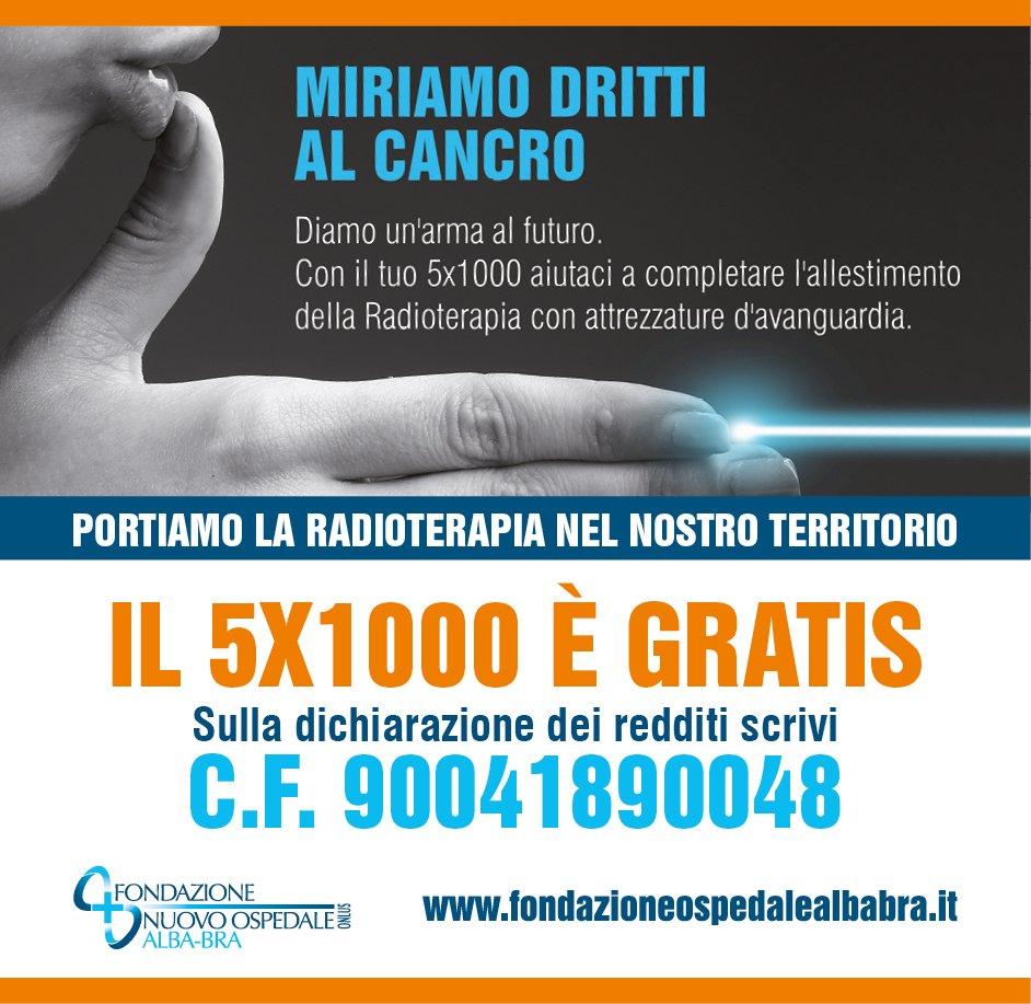 Riparte la campagna 5×1000 per la Radioterapia – RASSEGNA STAMPA