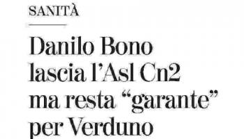 Danilo Bono lascia per l'assessorato regionale alla Sanità, ma da garanzie su Verduno e ringrazia la Fondazione per il supporto.