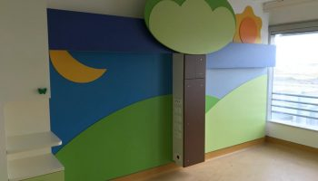 In allestimento le stanze di degenza pediatriche a Verduno
