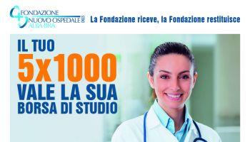 Non allentiamo il nostro supporto all'ospedale: il tuo 5×1000 per incrementare le borse di studio di giovani medici specializzandi per il territorio